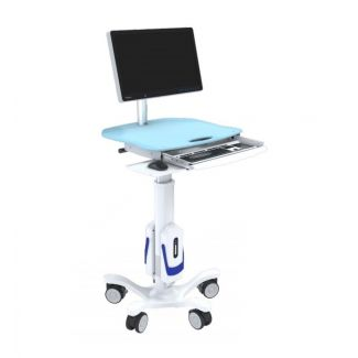 Powered Medical Cart with Keyboard Tray - GeniCart